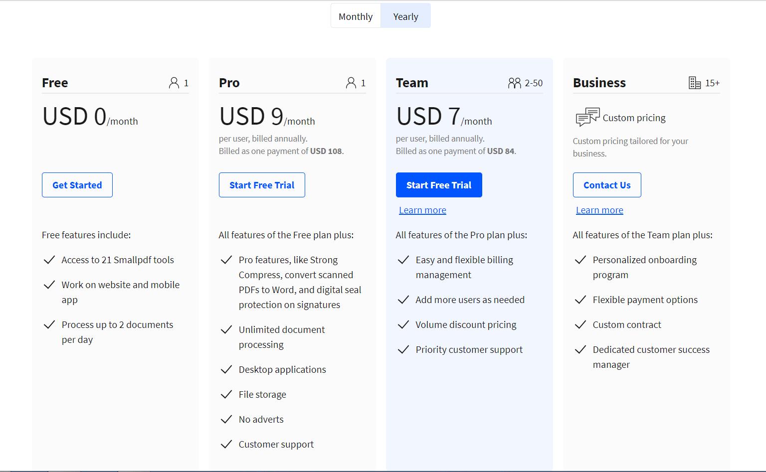 smallpdf pricing