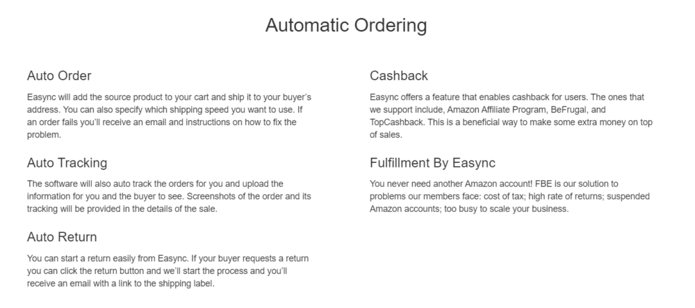 Automatic Ordering