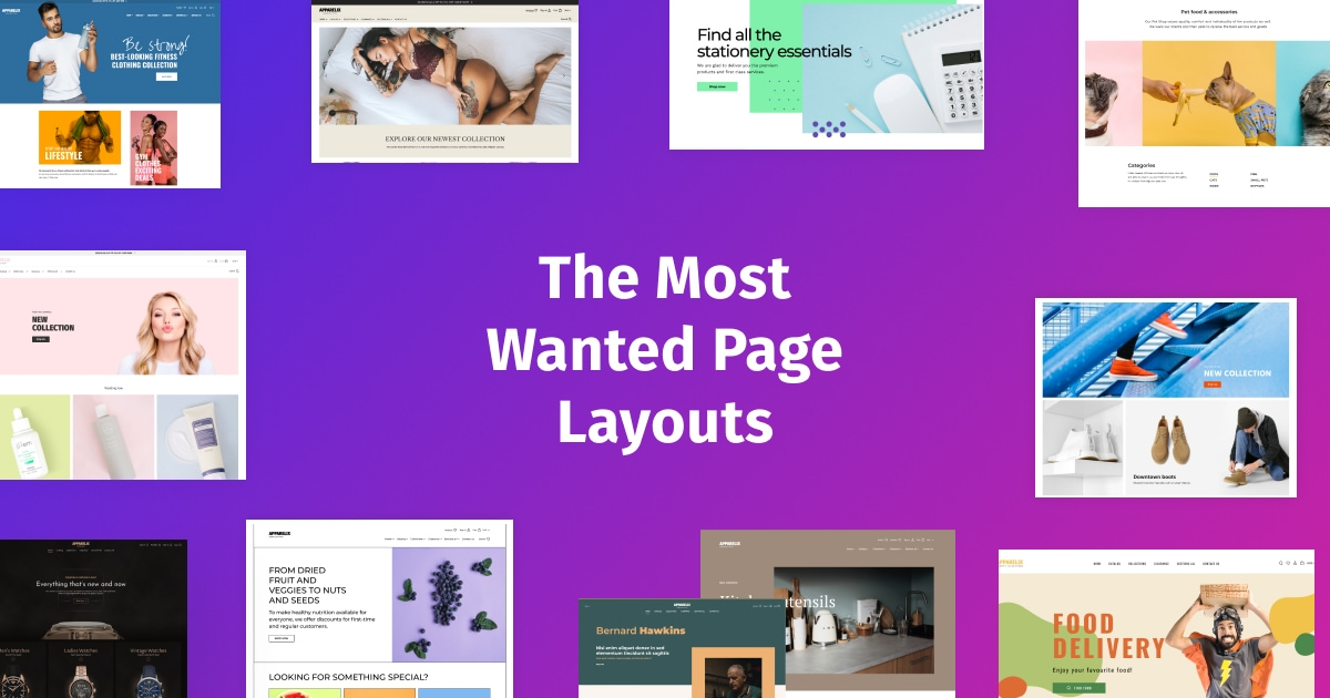 The Most Wanted Page Layouts
