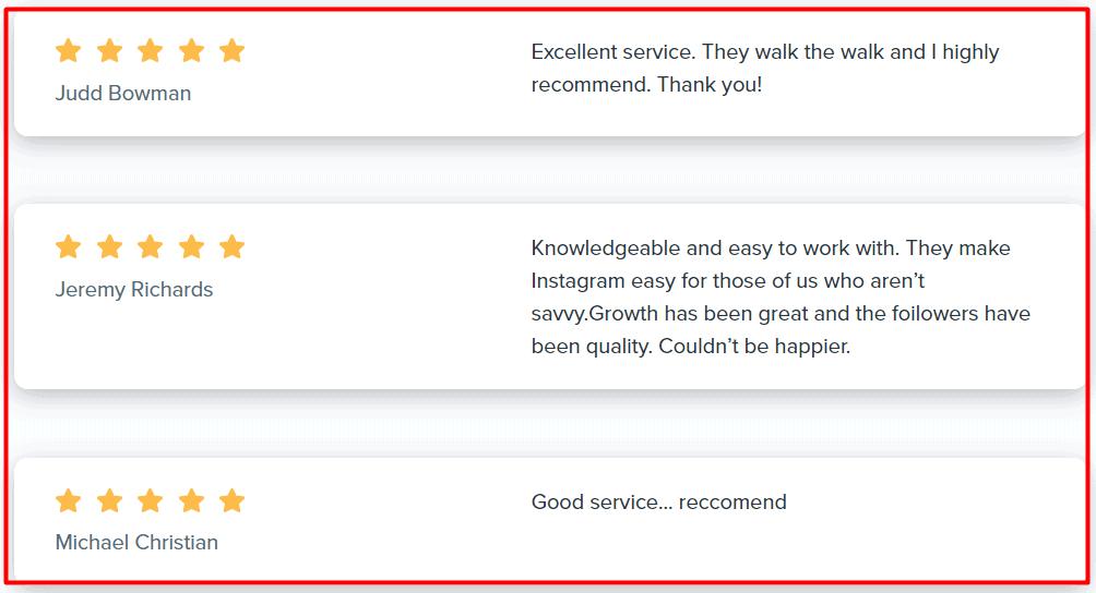Kicksta Reviews On Google
