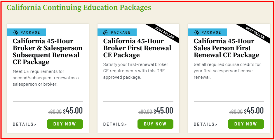 360 Training Continuing Education Packages