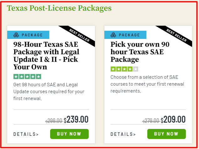 360 Training Post-License Pacakages