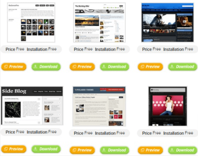 TMDHosting free website teamplates- tmdhoisting reviews