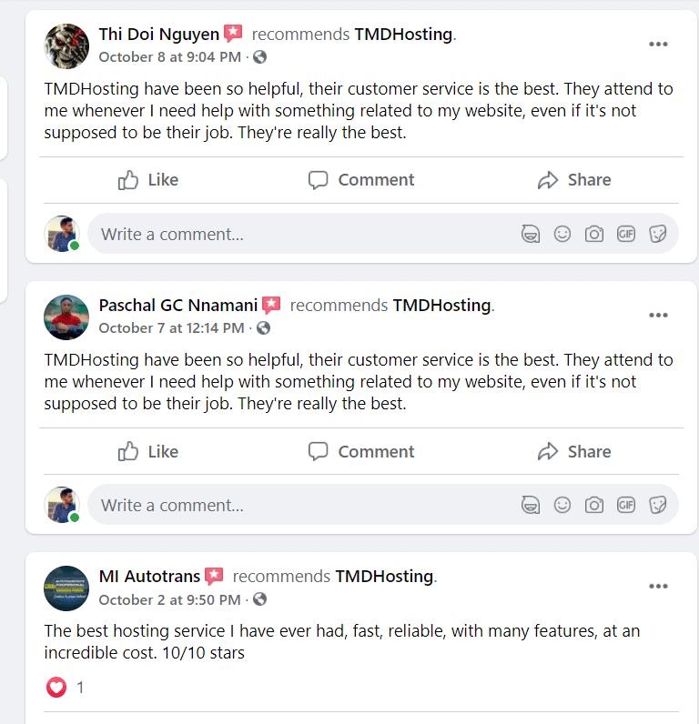TMDHosting user reviews coupons